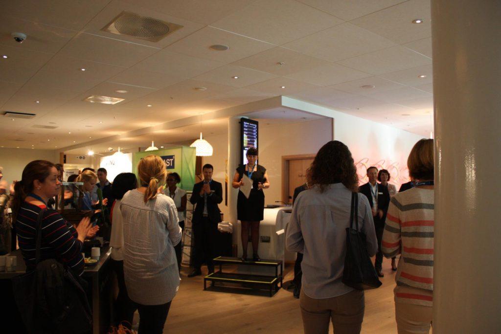 Faggruppeleder Aina Hauge åpner utstillingen!